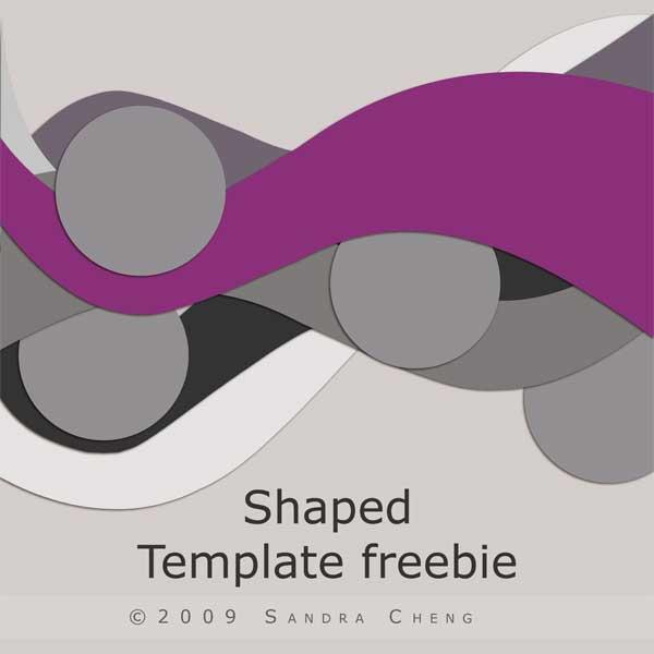 Shaped Template Freebie